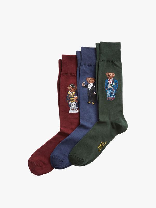 3 Pack Bear Socks Gift Box