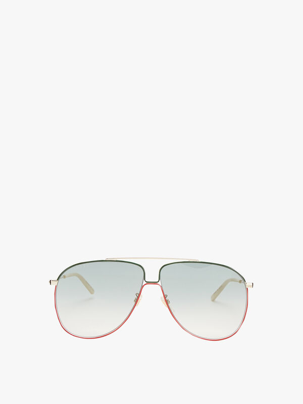 Colour Edge Aviator Sunglasses