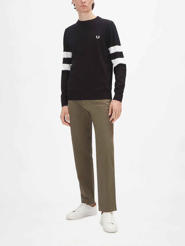 Tipped Sleeve Knit