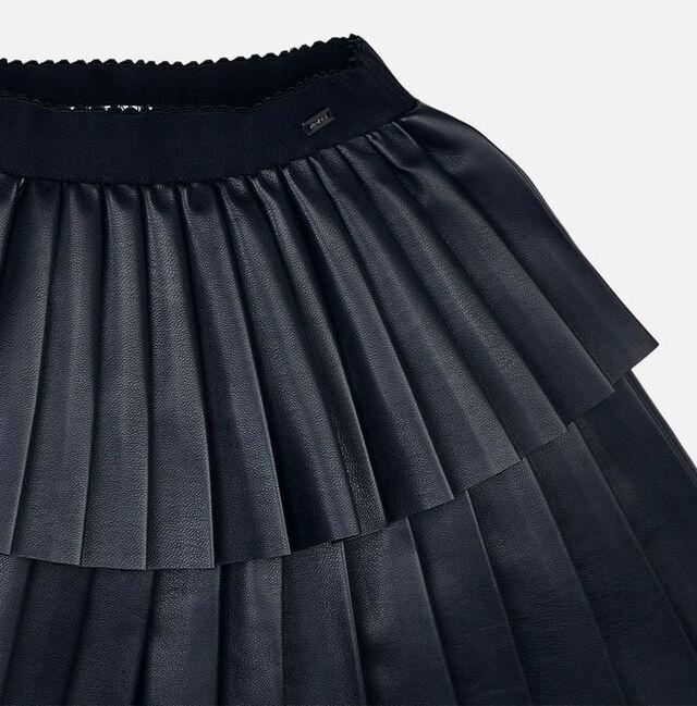 Pleather Pleated Skirt