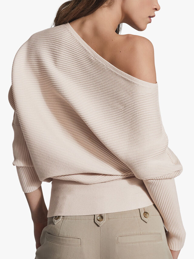 LORNA Asymmetric Knitted Top