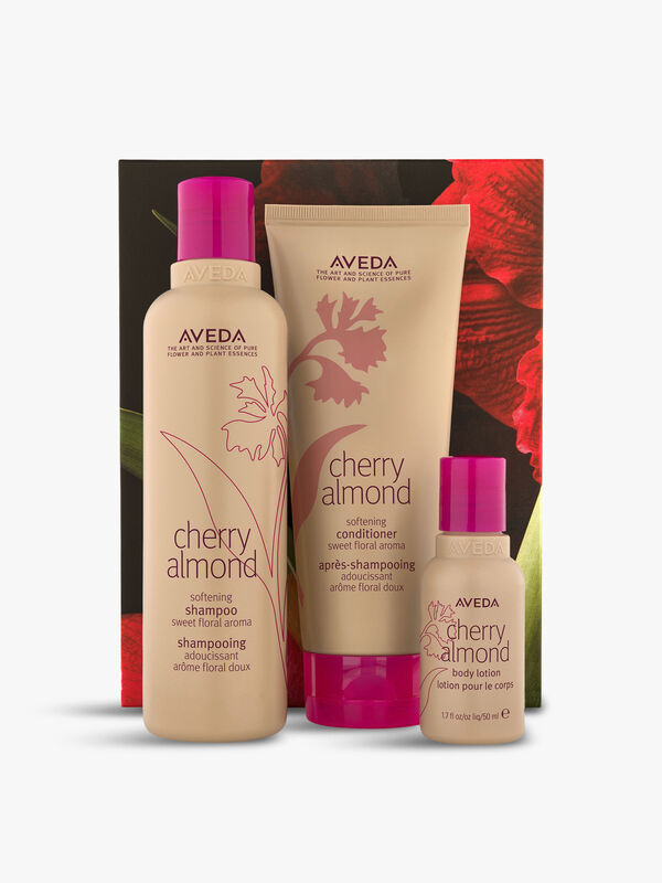 Cherry Almond Hair and Body Softening Trio