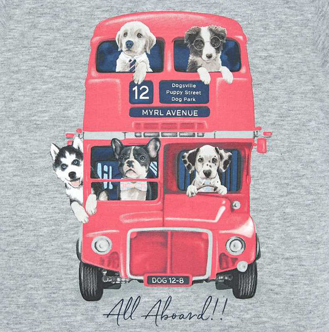 London Bus Dog Top