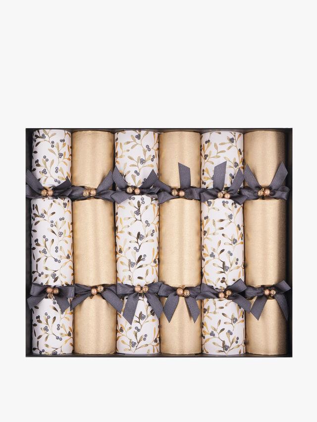Golden Mistletoe Crackers