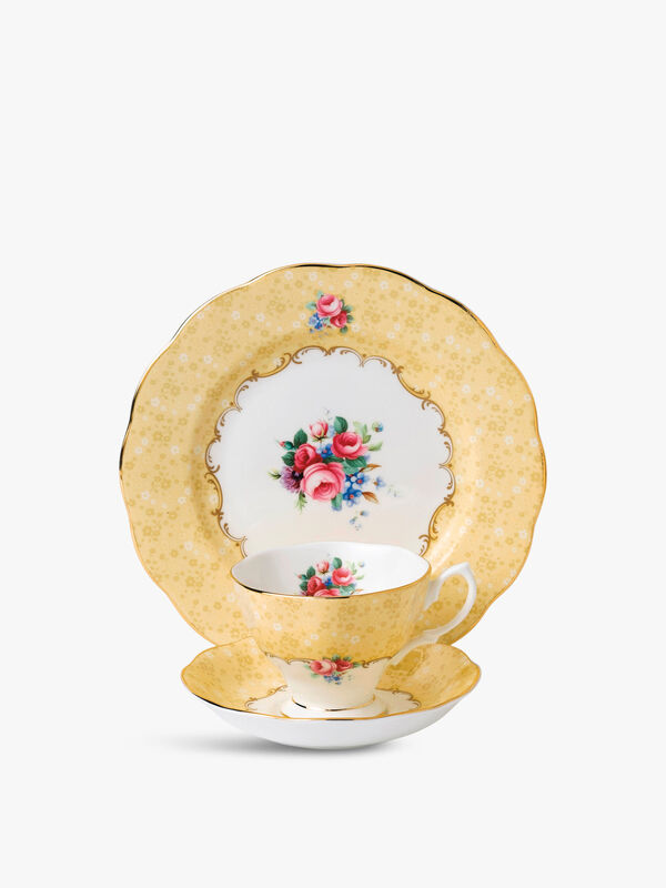 Bouquet 1990 Teacup & Saucer Plate