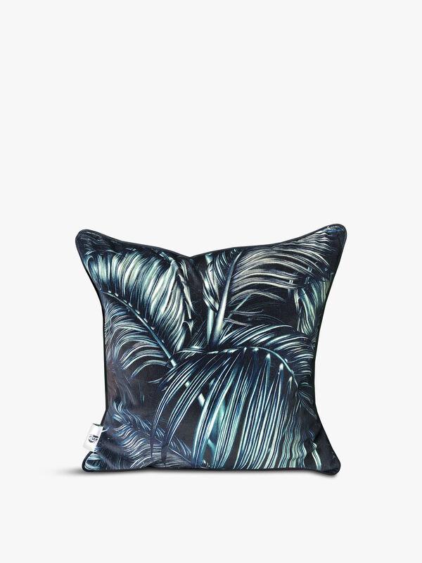 Velvet Front Balearic Palm Cushion
