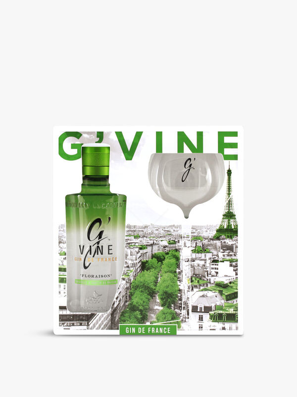 G'Vine Florasion gift pack with glass 70cl