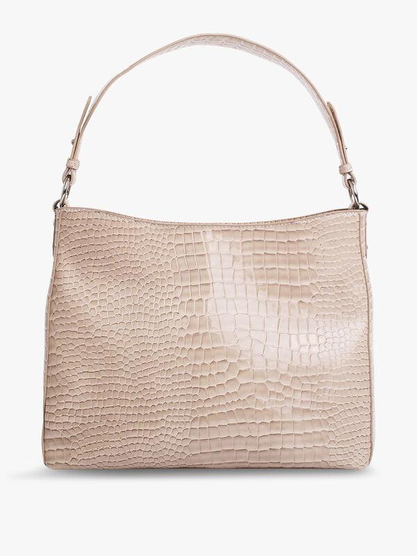Amble Croco Shoulder Bag