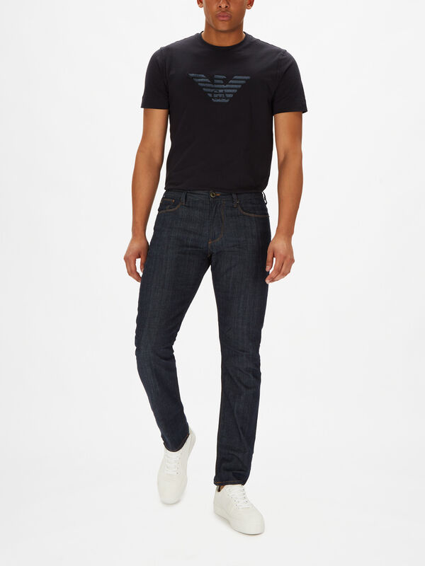 J06 Slim Fit  Tabacco Stitch Jeans