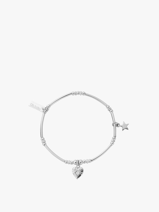 Heart and Star Charm Bracelet