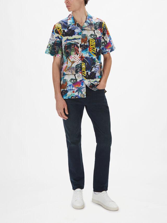 Shortsleeve Funky Print Shirt
