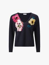 Proemio-V-Neck-Floral-Jumper-0000406840
