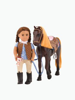 Thoroughbred Poseable Horse
