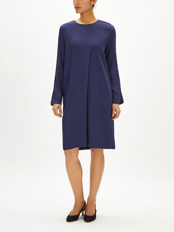 Long Sleeve Tuck Detail Dress