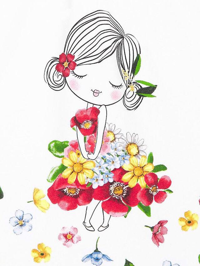 Lady With Flower Dress