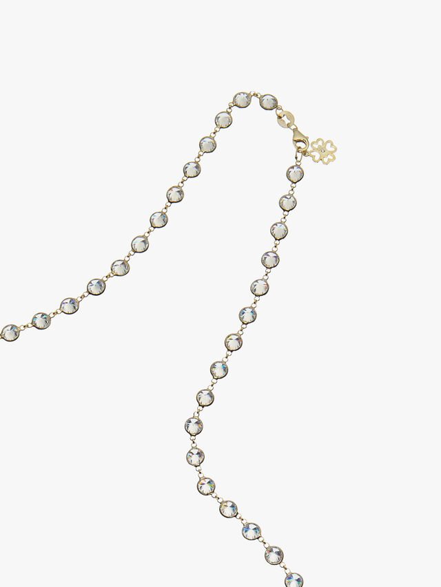 Chelsea Heavy Long Crystal Necklace