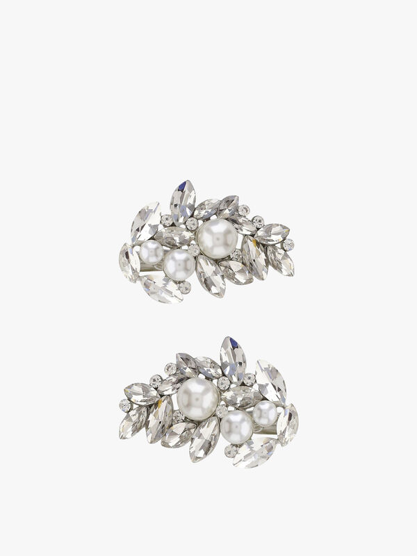 Marquise And Pearl Encrusted Hair Clasps