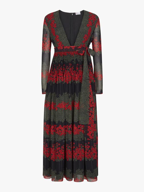 Deep V Neck Maxi Dress