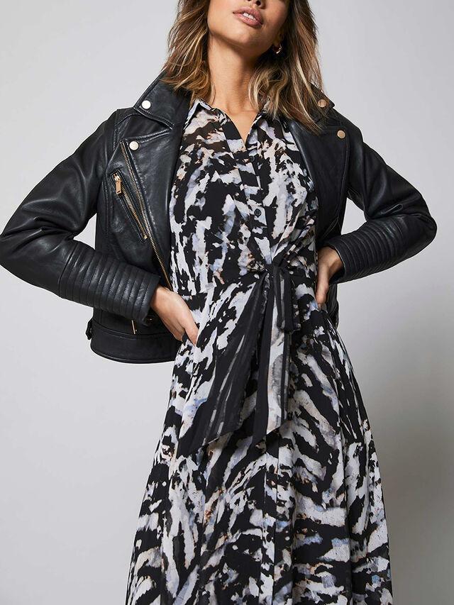 Simone Animal Print Midi Dress