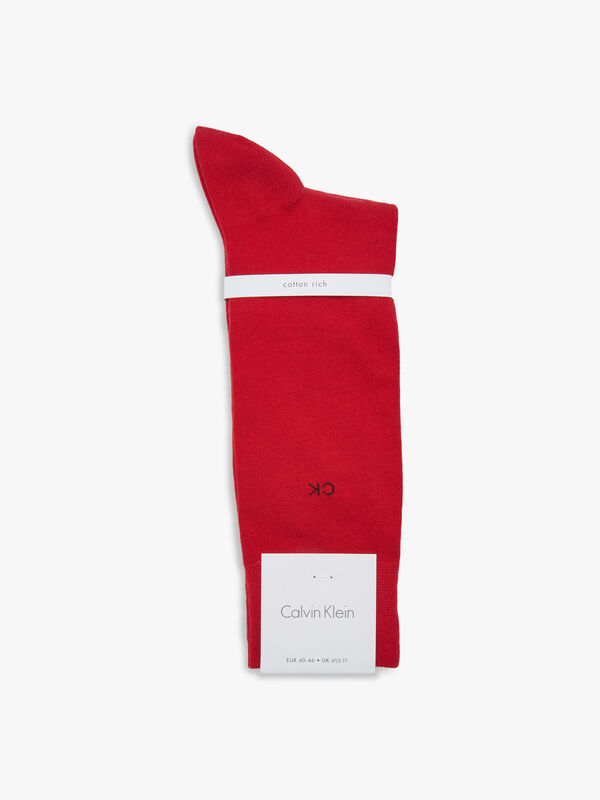 Combed Cotton Flat Knit Crew Socks