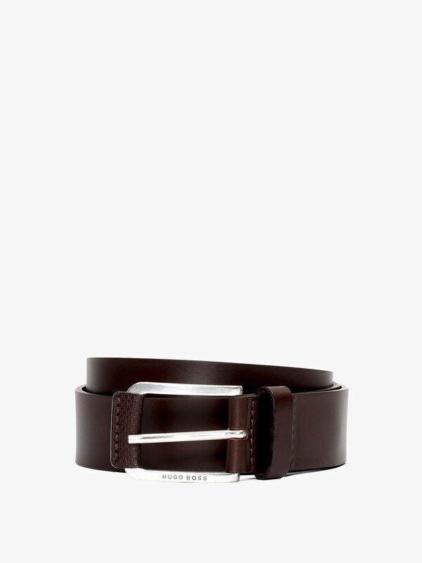 Jory Monogram Print Leather Belt