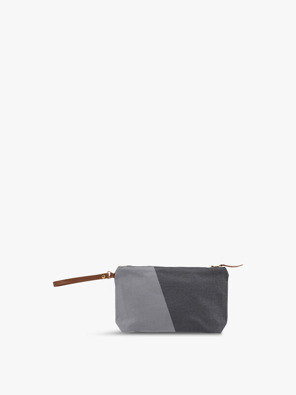 Shades Grey Cosmetic Purse