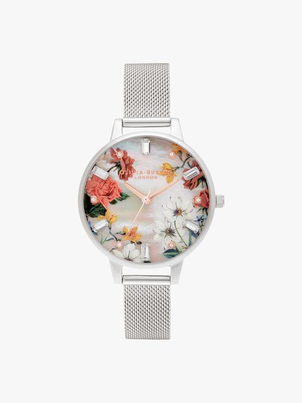 Sparkle Florals Demi Mop Watch