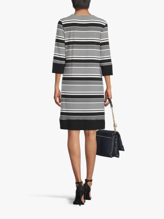 V Neck Striped Dress