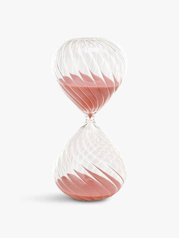 Medium Swirl Pink Sandglass