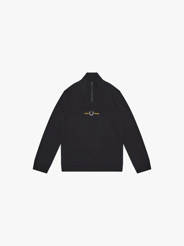Embroidered Half Zip Sweatshirt