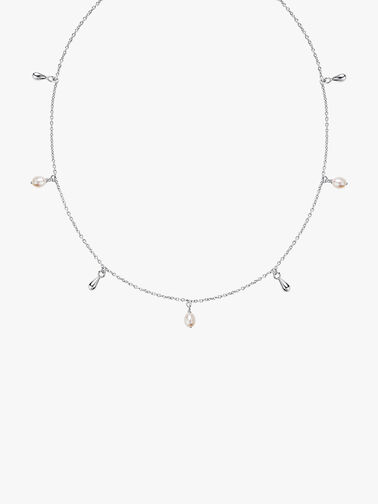 Lagertha Silver Drop Choker Necklace