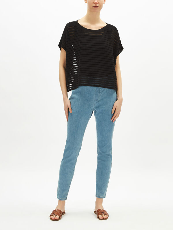 Short Sleeve Batwing Jumper
