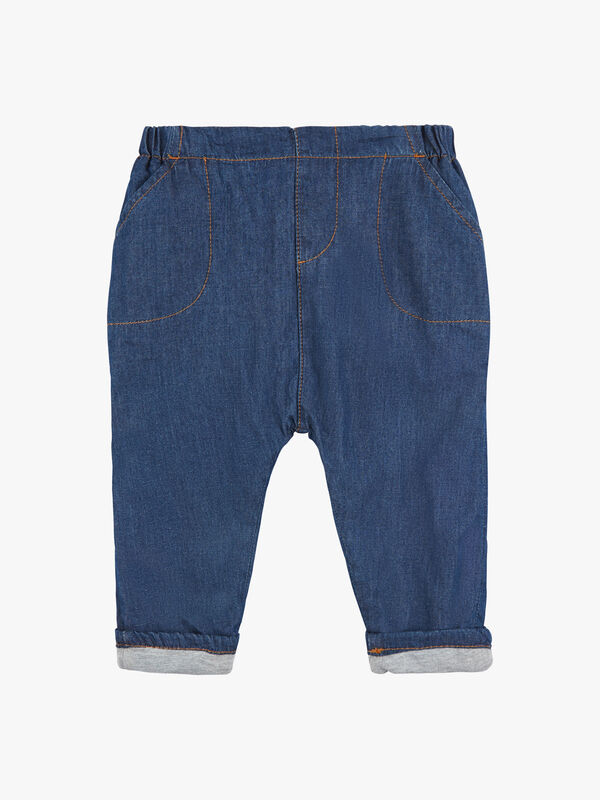Lined Pants With Elastic