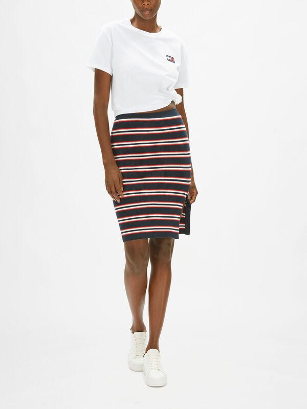 Stripe Sweater Skirt