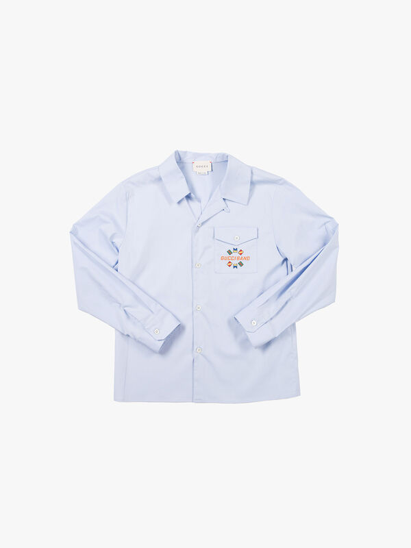 Long Sleeved Shirt With Embroidery