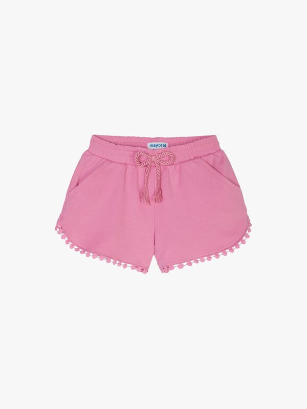 Cotton Shorts with Trim