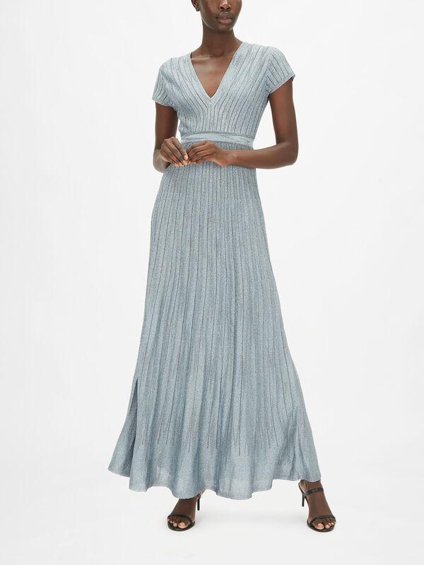 Solid Lurex Maxi Dress