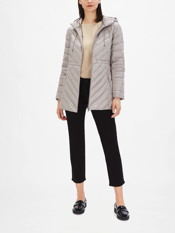 Pearl Sheen Quilted Down Coat