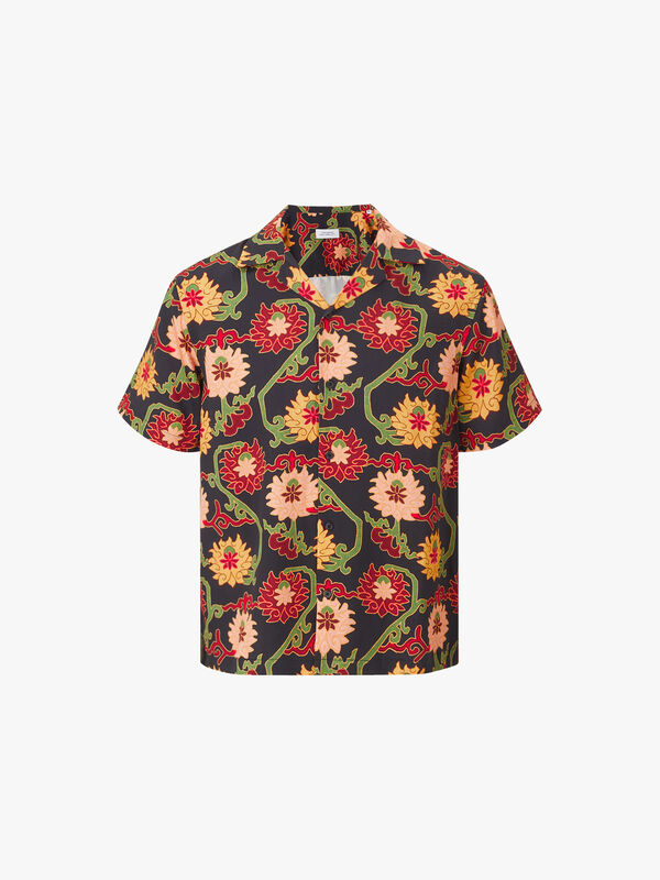 Canty Peony Short Sleeve Shirt