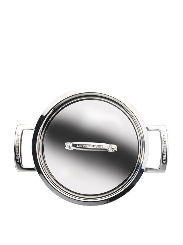 3-ply Stainless Steel Deep Casserole 24cm