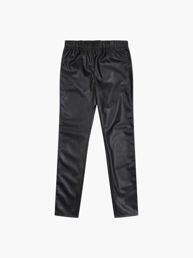 Faux-Leather Jeggings