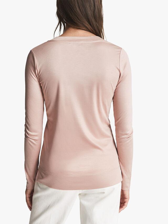 Selena Jersey V-Neck Top