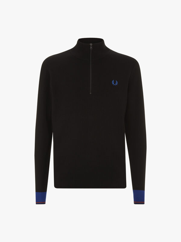 Half Zip Knitted Track Jacket