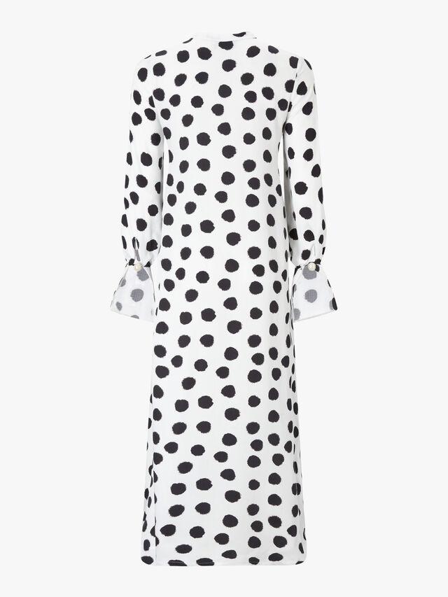 Elle Dot Tie Waist Shirt Dress