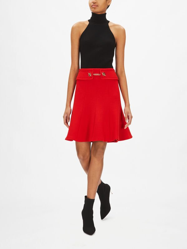 Fit and Flare Short Skirt