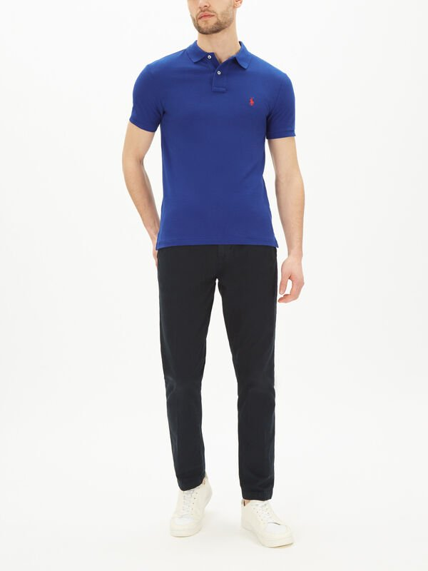 Classic Slim Fit Mesh Polo Shirt