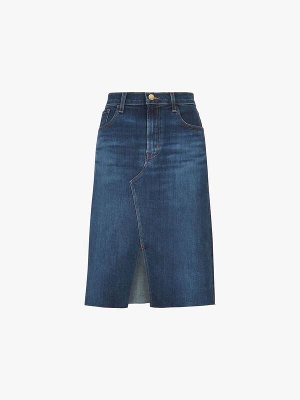 Trystan Knee Length Denim Skirt