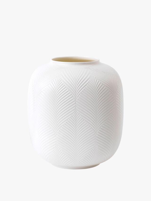 White Folia Rounded Vase
