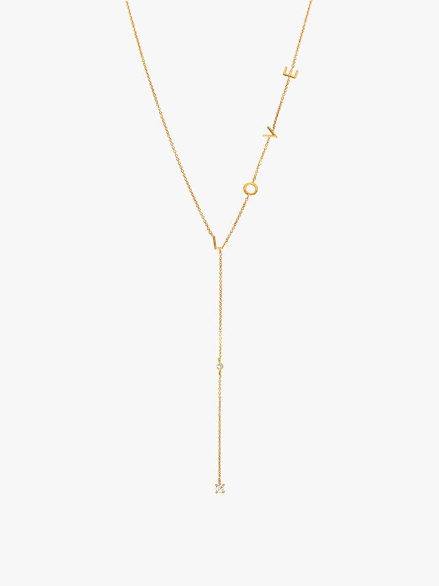 Love Script Necklace