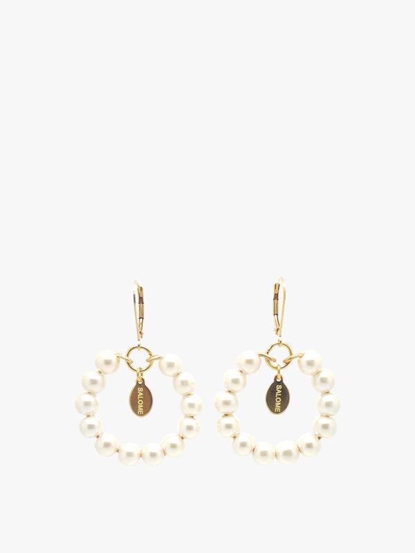 Tribal Pearl Earrings